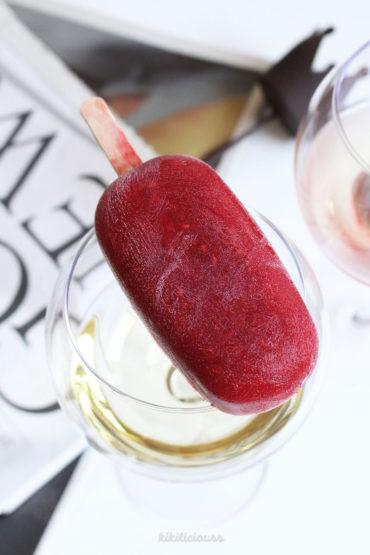 Healthy Raspberry Popsicle