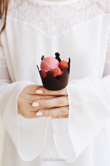 Homemade Artisanal Raspberry Ice Cream